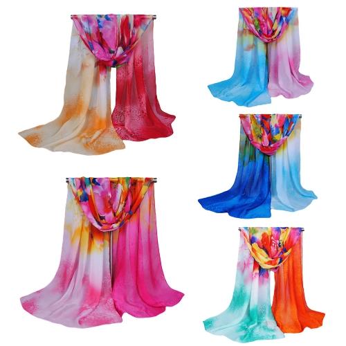 Moda mujeres bufanda de la gasa
