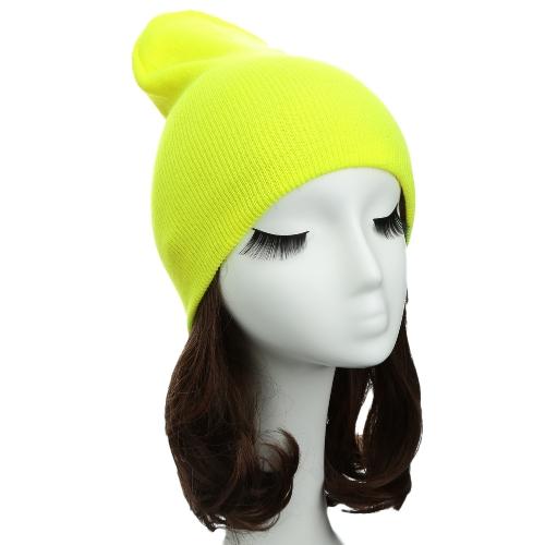 Nuevo mujeres Unisex hombres Beanie sombrero Color sólido hip-hop caliente fresco casquillo hecho punto sombrero