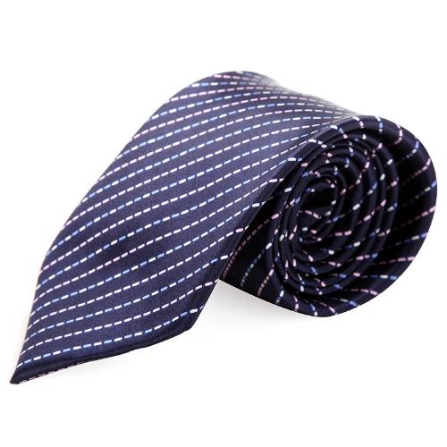 Moda tejido corbata corbata raya del poliester del telar jacquar novio boda masculino
