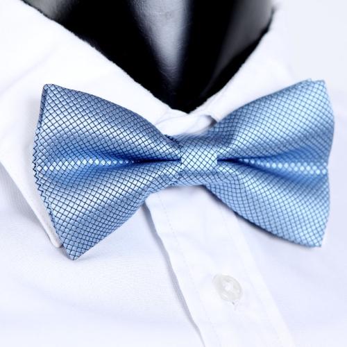 Moda smoking Bowtie sólido Color corbatas de hombres boda fiesta pajarita corbata azul pre-atado ajustable