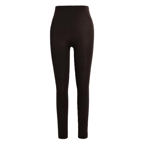 Sexy Women otoño invierno Leggings sólido alto elástico cintura grueso cálido medias bodycon pantalones