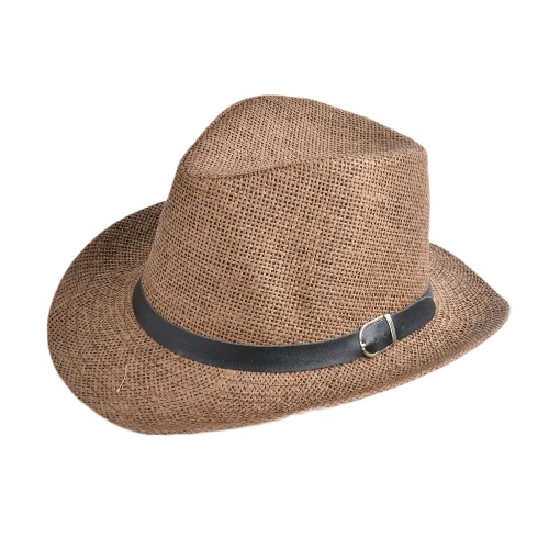 New Summer Men Chapéu de palha Wide-Brim Foldable Beach Holiday Beach Casual Floppy Cap Sunhats