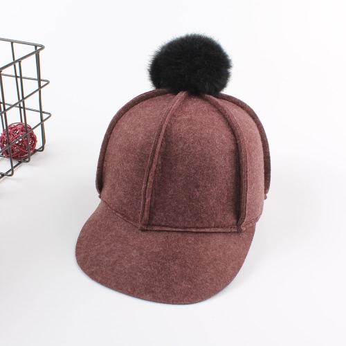 El casquillo sólido de las lanas unisex del nuevo invierno Bobbles el sombrero plano ocasional del béisbol de la mujer del hombre
