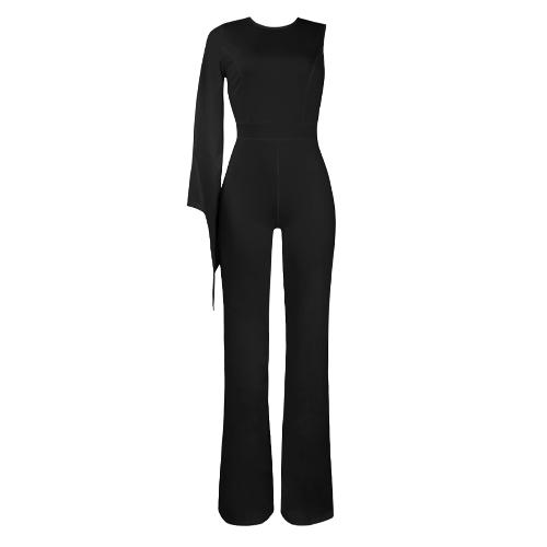 Сексуальные комбинезоны для женщин с длинным рукавом с длинными рукавами Толстые штаны для штанов Slim Playsuit Rompers Red / Black / White