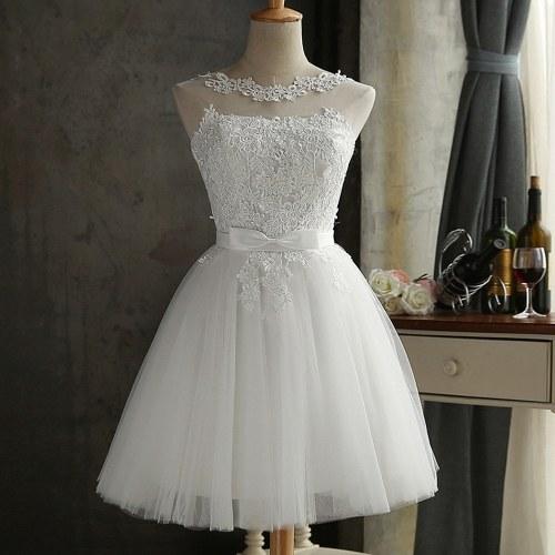 Платье для подружки невесты для женщин с вышивкой из сетки Tulle Slim Elegant Wedding Formal Dress фото