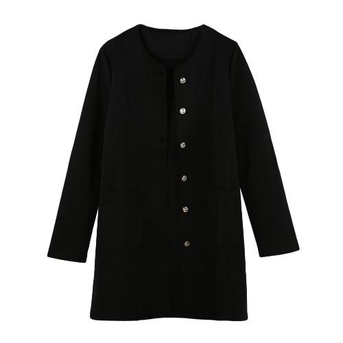 ee90e7cf63e Новые женщины слой однобортный карманы длинные конфеты цветные пальто  пиджак пиджак верхняя одежда