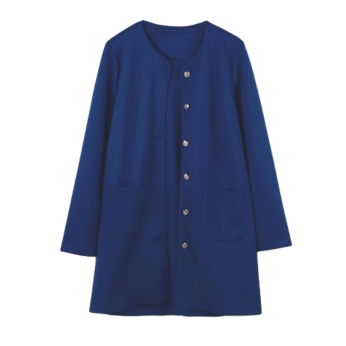 Casual Single-Breasted Pockets Long Sleeve Candy Color Oversized Coat G1560DB-XL