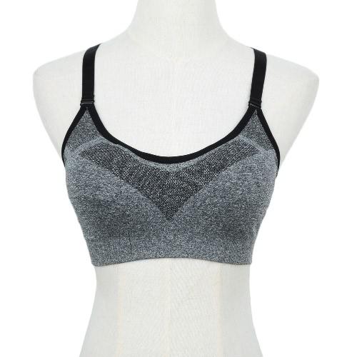 New Fashion Women Sports Bra Push Up Wireless Padding Fitness Stretch Breathable Yogo Gym Underwear Vest