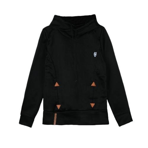 Neue Art und Weise Frauen Hoodie Sweatshirts selbst Binden Taschen Pullover mit Kapuze lose Tops