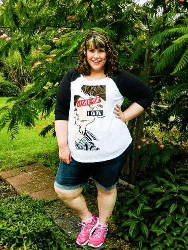 Mode Frauen Plus Size T-shirt Cartoon Print Kontrast Farbe O-Neck halbe Ärmel lässig oben weiß