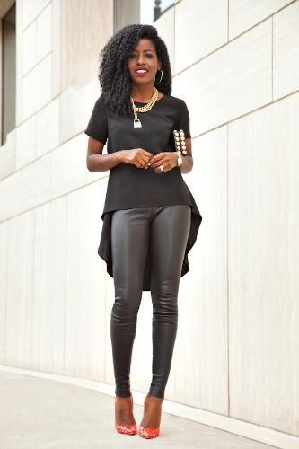 Fashion Asymmetric Hem Swallowtail Short Sleeve Casual Tee for Women