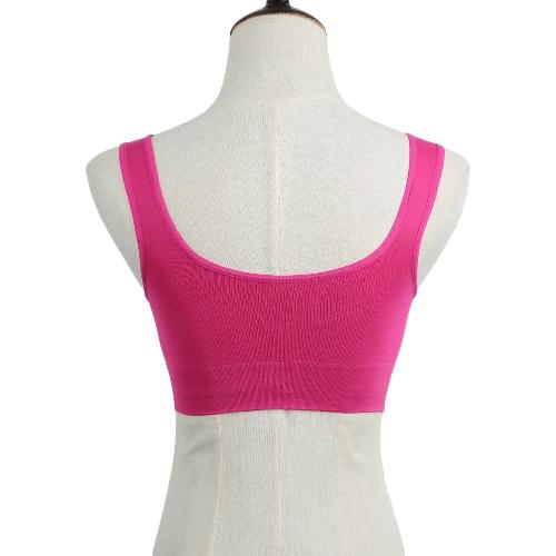Sexy Women Sports Bra Yoga Running Ftness Seamless Padded Push Up Vest Bra Workout Tank Tops