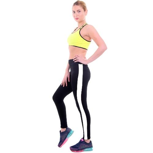 Nuovi pantaloni lunghi dei pantaloni di stirata correnti della ginnastica di forma fisica della vita della banda delle ghette di sport delle nuove donne di modo