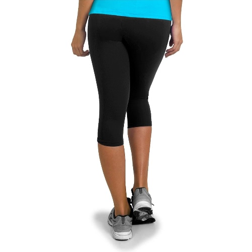 Women Sports Leggings Tights Yoga Pants Print Sportswear High Waist Elastic Workout Cropped Trousers