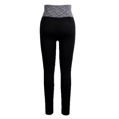 Pantalones de moda mujer Yoga alto ojete elástico de malla deportes correr Fitness pantalones largos delgados Leggings