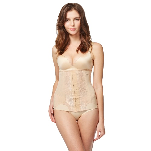 Kobiety Hot Shaper Lace Talia Cincher Mesh Trener Ciała Body Slimming Belt Boned Gorset Underbust Shapewear