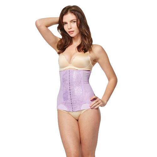 La mujer talladora caliente encaje cintura Cincher malla cuerpo entrenador adelgazar cinturón deshuesado corsé Underbust fajas