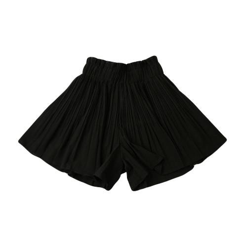 Nuove donne pieghettate divise gonne gamba larga pantaloni elastico alto in vita Casual Abito Pantskirt Culottes rosso/nero/kaki