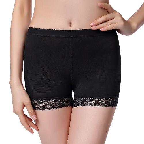 Sexy Women Control Panties Padded Butt Lifters Enhancer Hip Up Mesh Bodycon Panties Shapewear Underwear Black/Beige