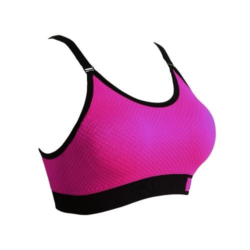 Mujeres de la manera sujetador de los deportes inalámbrica correas ajustables desmontables de ratón Top Gym Fitness elástico sujetador