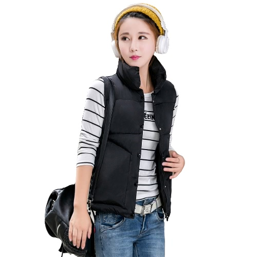 New Fashion Women Winter Vest Waistcoat Sleeveless Down Cotton Jacket Gilet Thick Warm Padded Coat Outerwear