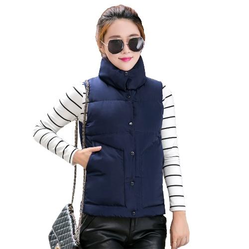 New Fashion Women Winter Vest Waistcoat Sleeveless Down Cotton Jacket Gilet Thick Warm Padded Coat Outerwear