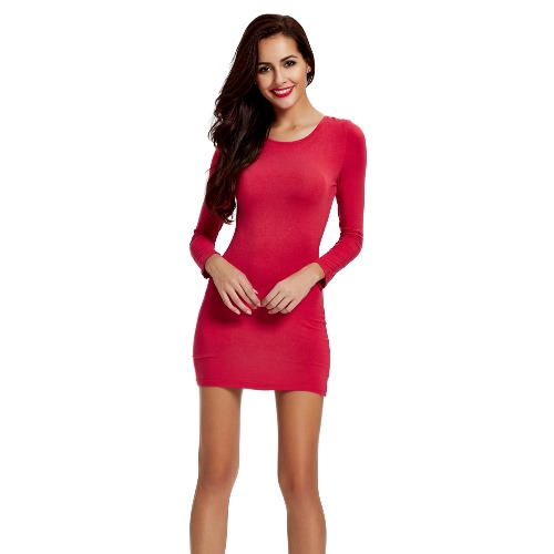 New Fashion Women Mini Dress Stretch Solid Criss Cross Straps Back Hollow Out Bodycon Sexy One-piece Red/Black