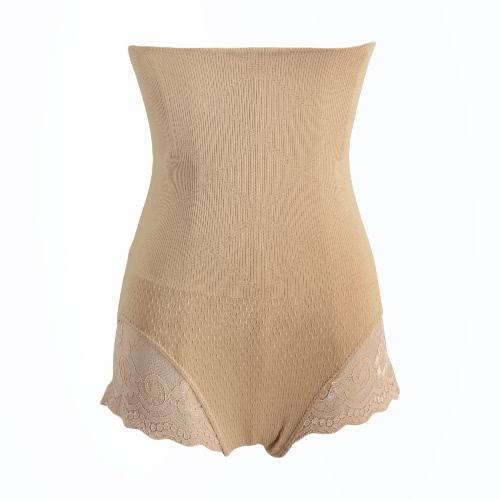 Sexy Women controle de forma Briefs Lace Cut Out pós-parto Magro Seamless Shaper Corpo Preto / Bege