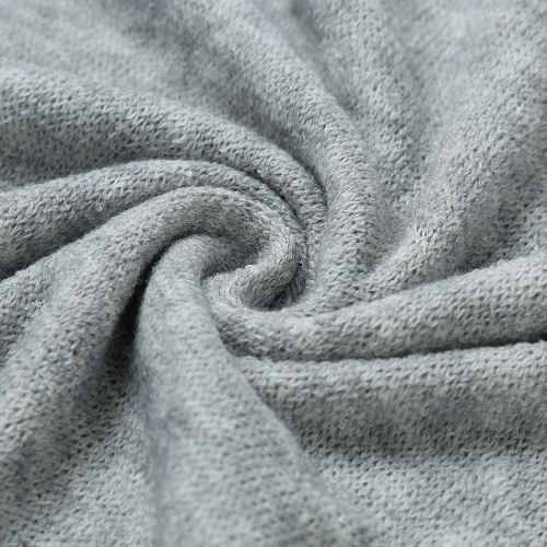 New Fashion Women Knitted Sweater Dress Backless Cutout Drawstring Casual Long Knitwear Jumper Top Grey
