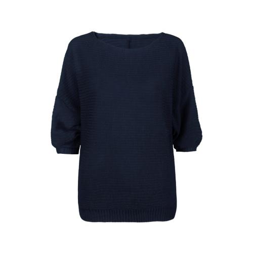 New Moda feminina Oversized Rib Knit Batwing Jumper camisola de manga longa O Neck soltas Tops Malha Casual