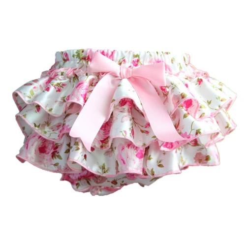 Styl Lolita Drukowanie Elastyczna talia Pokrywa Dzieci Culotte Bowknot Girls Spódnica dla niemowląt Spodnie dla niemowląt Spodnie PP