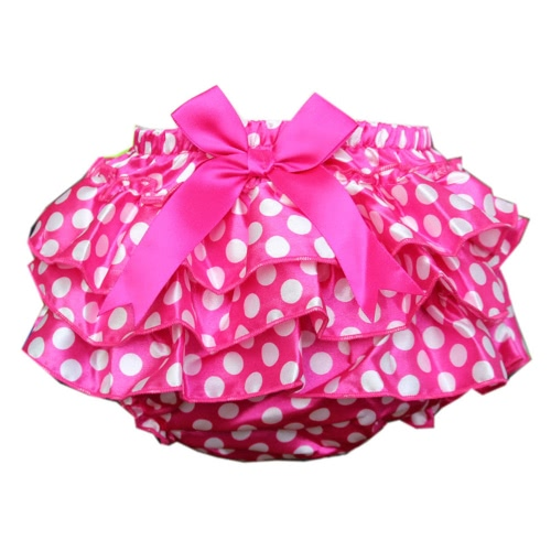 Lolita estilo de impresión cintura elástica de la cubierta de los niños Culotte Bowknot Girls pañal de la falda bebé pantalones PP pantalones