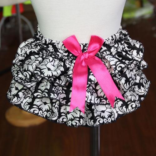 Lolita Style Printing Elastic Waist Cover Kids Culotte Bowknot Girls Diaper Skirt Baby Shorts PP Pants