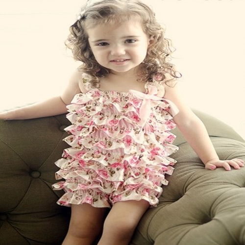 Summer Style Newborn Baby Lace Ruffle Petti Rompers Toddler Girls Fashion Birthday Party Romper Vestuário