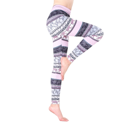 Autumn Women Warm Leggings Christmas Printed Slim Trousers High Waist Vintage Fitness Capris Pants