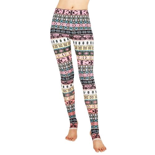 Mujeres Leggings Navidad Imprimir Pantalones Flacos Medias Casual Estiramiento Delgado Cintura Alta Leggings Estribo Fitness Pantalones
