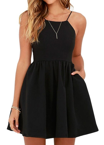New Sexy Women Mini Slip Dress Backless Spaghetti Strap Solid Floral Slim Ruched Party Skater Dress