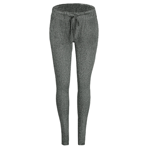 Pantaloni lunghi pantaloni lunghi delle donne di modo delle donne pantaloni sottili sequestrati metallici della fasciatura elastica