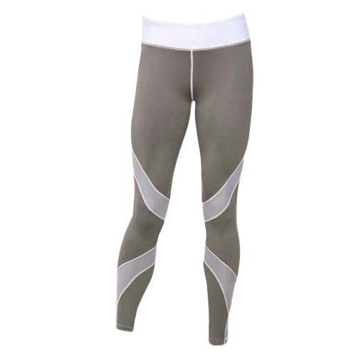 Mujeres Yoga Leggings Pantalones deportivos Malla Insertar Fitness Pantalones Running Mallas Entrenamiento Skinny Leggings Negro / Blanco / Gris