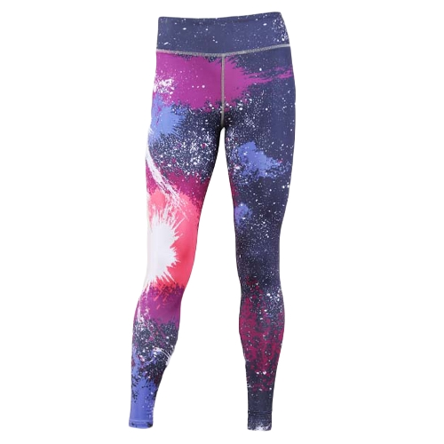 Mujeres atractivas delgadas polainas deporte Yoga impresión especial de cintura alta pantalones de lápiz flaco de la aptitud casual pantalones