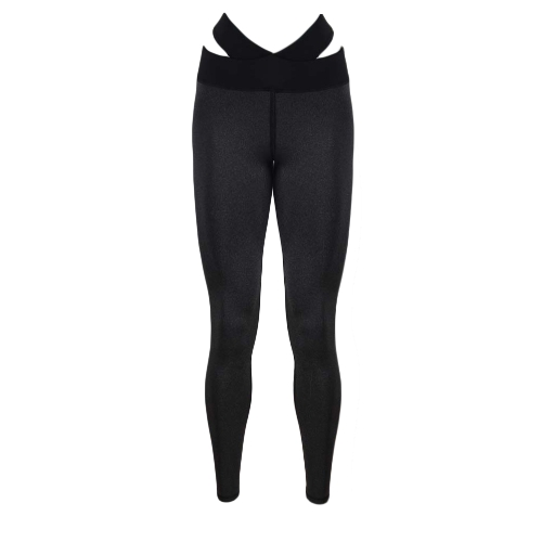 Sexy Women Slim Leggings Sport Yoga Splice Cor Casual Fitness Skinny Pencil Calças Calças Cinzento