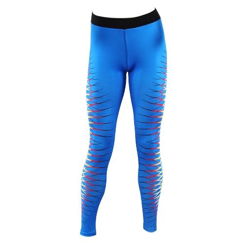 Las mujeres se divierten las polainas de la yoga de la impresión de la ropa de deportes de la aptitud los pantalones ajustados de Bodycon del entrenamiento de la aptitud
