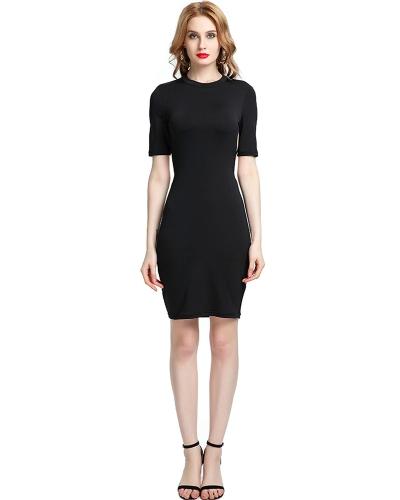 Neue Sexy Frauen Strappy Mini Kleid Aushöhlen Zurück Oansatz Kurzarm Nachtclub Party Kleid