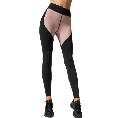 Mujeres Deportes Yoga Leggings empalme color elástico ropa deportiva Fitness Workout Skinny pantalones Bodycon Pantalones