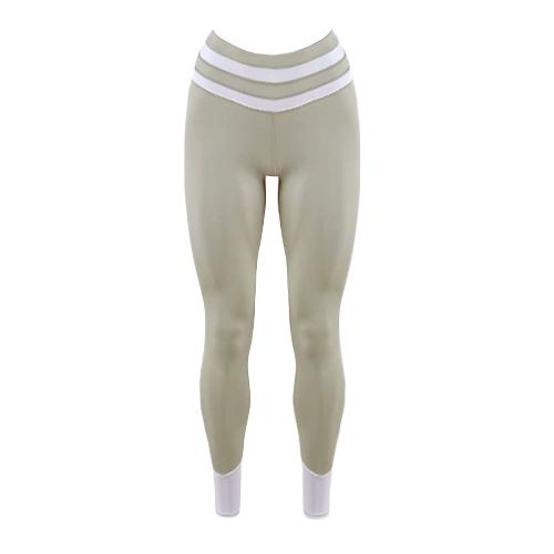 Mujer Deportes Yoga Leggings Empalme Elástico Ropa deportiva Fitness Skinny Bodycon Medias Pantalones Pantalones Negro / Gris