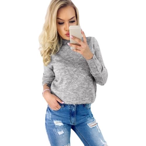 Maglie maniche lunghe a maniche lunghe del manicotto del maglione lavorato a maglia del Halter delle donne sexy di inverno