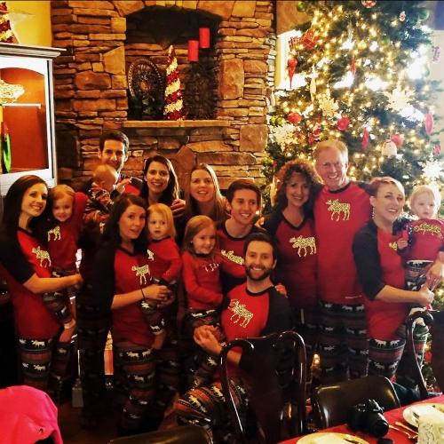 Женщины Рождественская семья Look Pajamas Олени Семья Соответствующие одежды Отец Матери Дети Детские футболки Брюки Set Red