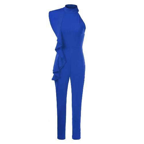 Новый модный женский боксерский рюкзак с холодным плечом Комбинезон с высоким рукавом без рукавов Playsuit Slim Party Club Bodysuit Rompers