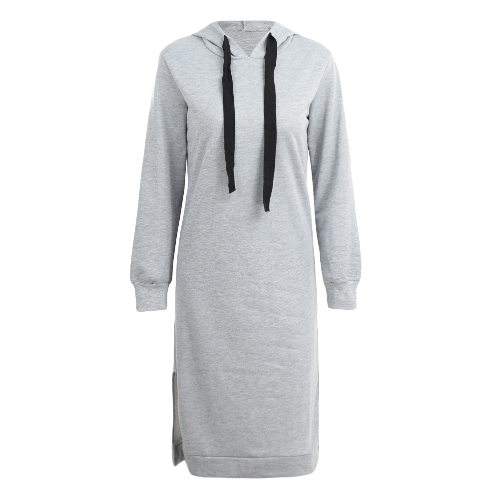 Sudadera con capucha larga de las mujeres Sudadera con capucha ocasional de la manga larga de la sudadera con capucha suelta de la manga larga