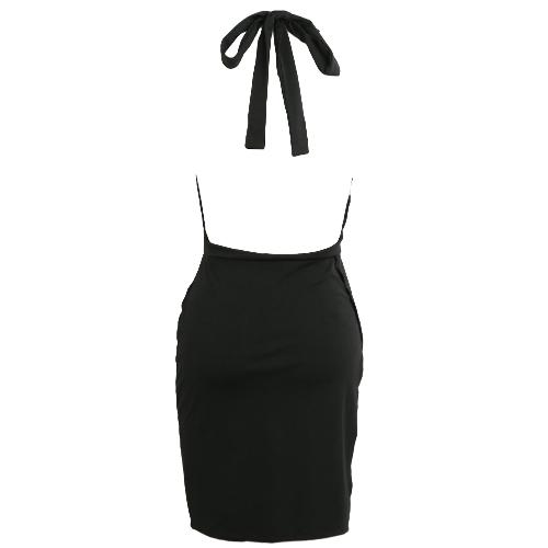 Vestido de mujer Halter Plunge V